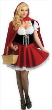 Womens Sexy Red Riding Hood Costume Deluxe Halloween Red Riding Hood Fancy Dress