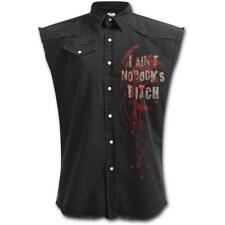 OFFICIAL LICENSED SPIRAL - THE WALKING DEAD - DARYL WINGS SLEEVELESS WORK SHIRT