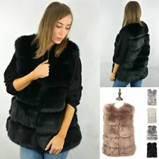 New Luxury Womens Soft Faux Fur Gilet Vesr Waistcoat Jacket Winter Warm Coat