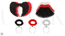 Kids Tutu Fancy Dress Halloween Costumes - Angel, Fairy, Cat, Leopard, Bunny etc