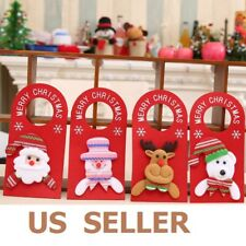 Xmas Tree Santa Claus Snowman Hanging Ornament Christmas Home Party Door Decorat