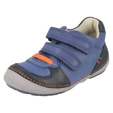 Boys Clarks Infants Casual Trainers Shoes The Style - Softly Pow