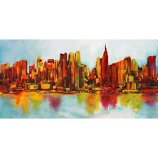 Quadro New York Abskyline Florio Pop Art Stampa su Mdf o Tela Swarovski Pannello