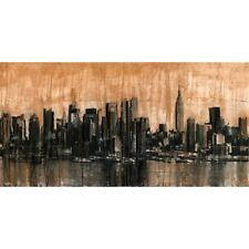 Quadro New York City Skyline 1 Stampa su Mdf o Tela Swarovski Pannello
