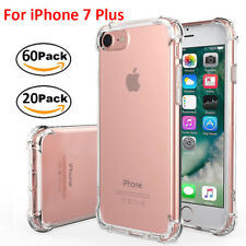 """Wholesale For iPhone 7 Plus 5.5"""" Rubber TPU Clear Case Bumper Shockproof Cover"""
