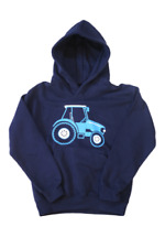 British COUNTRY COLLECTION AZUL TRACTOR INFANTIL Sudadera Con Capucha - marino