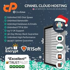 Unlimited cPanel Website Hosting Site - 1 Year - / Business Grade / Free SSL
