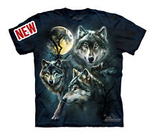 Tee shirt enfant loups de la lune - Moon wolves - Vêtement T-shirt animaux Moon