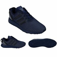 ADIDAS ZX FLUX ADV Mens Dark Blue Textile Synthetic Trainers AQ6752 ADIDAS