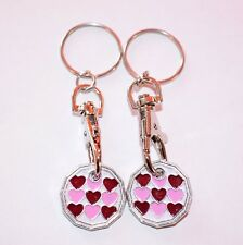 2 PACK ST GEORGE ONE POUND COIN TOKEN KEYRING SHOPPING TROLLEY KEYRING