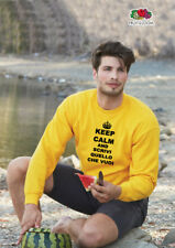 Felpa Keep Calm uomo personalizzata uomo Fruit of the Loom girocollo tinta unita