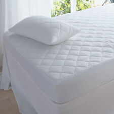 SINGLE SIZE WASHABLE MATTRESS QUILTED COMFORT PROTECTOR FULLY FITTED BED COVER