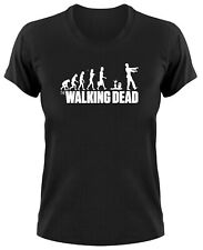 The Walking Dead EVOLUTION Fun Mujer Camiseta T-Shirt, zombi Something somewhere