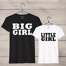 Big Girl Little Girl mum daughter t-shirt set, mother and daughter tshirts, S-XL