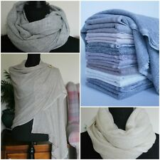 Pure Cashmere Pashmina Scarf Shawl Stole Classic Style 100% Handmade in Nepal