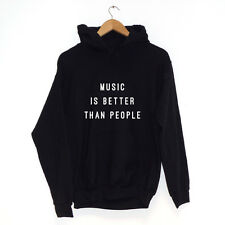 Música Is Better Than People SUDADERA CON CAPUCHA varios colores Hipster Ropa