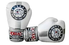 YOKKAO OFFICIAL FIGHT TEAM SILVER/WHITE MUAY THAI BOXING GLOVES