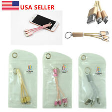 Hot 2 in 1 USB Charger Cable Key Chain For iPhone 5 6 Plus Samsung Android LG