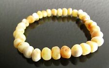 LOVELY UNPOLISHED BALTIC AMBER BRACELET FOR ADULT & TEENS - LIGHT  HONEY COLOUR