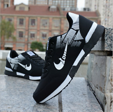New Black Men's Sports Breathable Sneakers Shoes Casual Fashion Running Athletic
