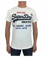 Mens Large Superdry  Tri T-Shirt in Optic White
