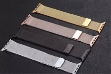 Milanese Mesh Loop Stainless Steel Watch Band Strap For Apple iWatch 38mm 42mm