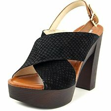 INC International Concepts Womens Cyleb Leather Open Toe SlingBack Platform P...