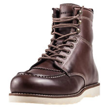 Tommy Hilfiger Rudy 1a Mens Brown Leather Casual Boots Lace-up Genuine Shoes