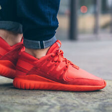 Mens Adidas Originals Tubular Radial Trainers Gym Casual Suede Red Various Sizes