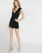 NWT Express Pleated Surplice Romper Sold out Value $69 Various Size