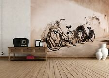 254x183cm Grande Papel pintado Fotomural Old Motos Retro Decoración De Pared