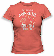 This Is What an Awesome Abuela Looks Like Camiseta - MUJER