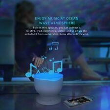 2 in 1 LED Ocean Wave Night Light Projector Relaxing Light & Music MP3 Speaker