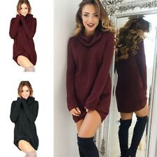 femme automne hiver sexy pulls manches longues couleur unie Robe pull neuf