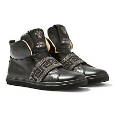 YOUNG VERSACE YSM0413 BLACK HIGH TOP SHOES_New Arrival