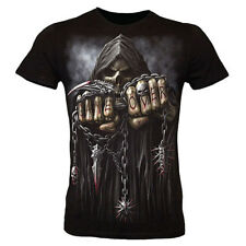 Spiral GAME OVER Fitted Fine Strech Gothic Death Reaper Shirt NEU