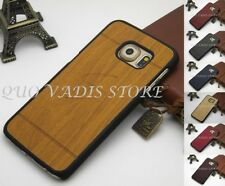 COVER CASE CUSTODIA LEGNO/RIGIDA PER SAMSUNG GALAXY S5/S6/S7/S8/EDGE/PLUS