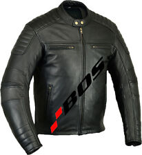 MOTO Giacca in pelle, Classic Giacca Moto, Nero Moto Giacca in pelle tg. M