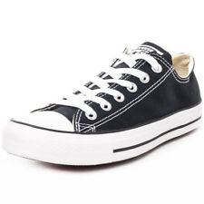 Converse Chuck Taylor Allstar Ox Mens Black Canvas Casual Trainers Lace-up