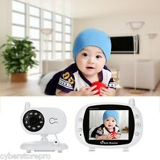 2-Way TALK 8.9cm 2.4GHz SENZA FILI TFT LCD Baby Video Monitor Visione Notturna