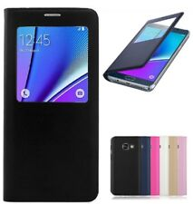 Shockproof Luxury Leather S-View Wallet Flip Case Cover for Samsung Galaxy Phone