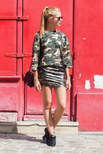 Crop top sweat pull camouflage gold Sixth June Femme