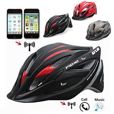 Intelligent BICYCLETTE CASQUE W/Casque Bluetooth vtt vélo route Smart NOUVEAU