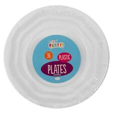 SMALL DISPOSABLE 18CM PAPER PLATES TABLEWARE WHITE CATERING PARTY WEDDING