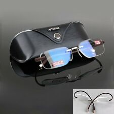 TR90 Rimless Flexible Eyeglasses Anti-radiation Reading glasses Reader +1 +2 +3