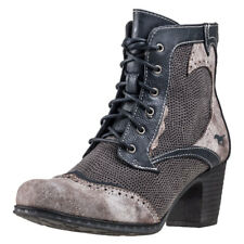 Mustang Zip Ankle Boot Mujeres Botines Navy Grey nuevo Zapatos