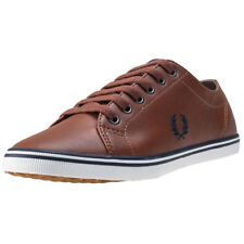 Fred Perry Kingston Femmes Baskets Tan Neuf Chaussure