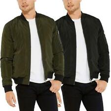 Mens Threadbare Bomber Jacket  MA1 Padded Warm Quilted Coat Zip Up Military