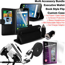 Quality Leather Card Slot Wallet Flip Phone Case Cover✔Accessory Pack✔Black