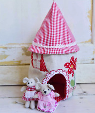Patchwork Mouse House by Powell Craft + Mice Choice   Cute Gift   FAST DISPATCH!